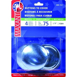 Nickel sewon snapssize 10 4 pkg free shipping on orders for Dritz craft cover button kit size 36