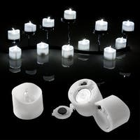 Image 24PCS Flameless LED Tealight Light Candles Battery Operated Cool White