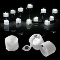 Image 48PCS Flameless LED Tealight Light Candles Battery Operated Cool White