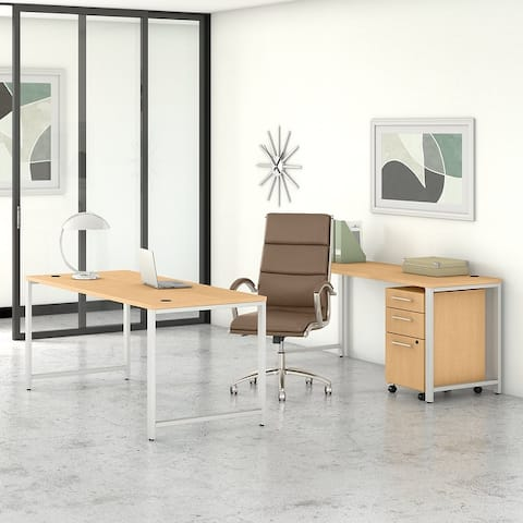 400 Series 72W Desks with Chair and Drawers by Bush Business Furniture