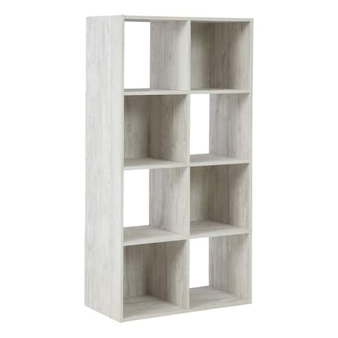 """Paxberry Casual Whitewash Eight Cube Organizer - 47""""W x 24""""D x 12""""H"""