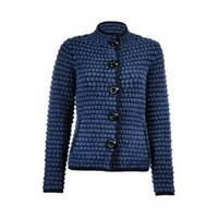 Sutton Studio Women's Wool Textured Sweater Jacket