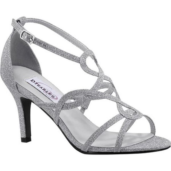 Shop Dyeables Women s Madison Strappy Sandal Silver Glitter - On Sale - Free  Shipping Today - Overstock - 12267593 cbf4751f3aff