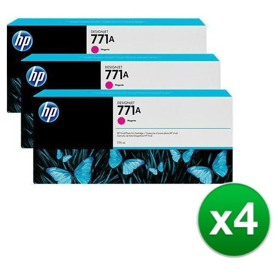 HP 771A 3-Cartridges 775-ml Magenta DesignJet Ink Cartridges (B6Y41A) (4-Pack)