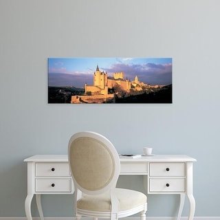 Easy Art Prints Panoramic Image 'Clouds , Alcazar Castle, Old Castile, Segovia, Madrid Province, Spain' Canvas Art