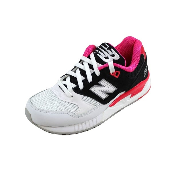factory authentic a524d f6f80 New Balance Women  x27 s 530 Classic Black White-Bright Cherry nan