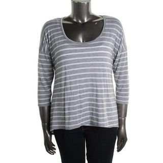 Rebellious One Womens Juniors Casual Top Knit Striped - XL