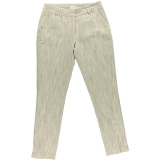 Laundry by Shelli Segal Womens Linen Blend Textured Straight Leg Pants - 4