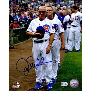 Joe Maddon Chicago Cubs Wrigley Field National Anthem 8x10 Photo