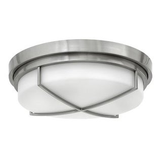 Hinkley Lighting 4382 3 Light Flush Mount Ceiling Fixture with Frosted Glass Shade from the Halsey Collection