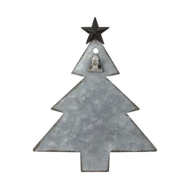 9 galvanized metal tree with clip christmas photo holder display stand - Metal Christmas Decoration Stand