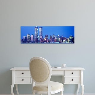 Easy Art Prints Panoramic Images's 'Evening, Lower Manhattan, NYC, New York City, New York State, USA' Canvas Art