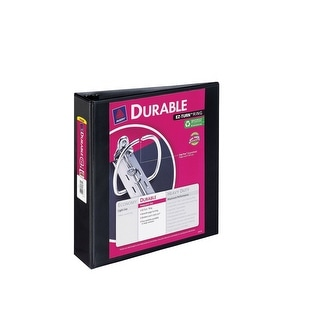 Avery Durable View Binder with Slant Ring, 2 in, 8-1/2 x 11 in, Black