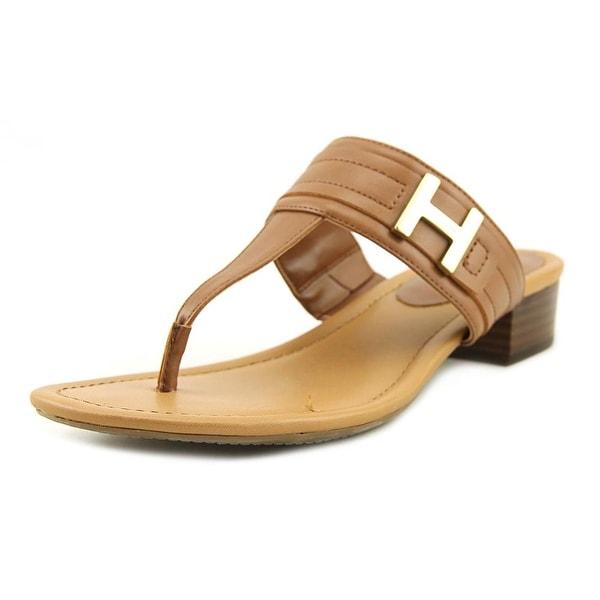 Tommy Hilfiger Koconut Women Open Toe Leather Tan Thong Sandal