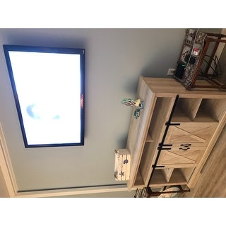 The Gray Barn Wind Gap Sliding Barn Door TV Stand Console