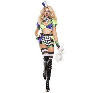 Womens Tipsy Mad Hatter Costume (Option: Purple)