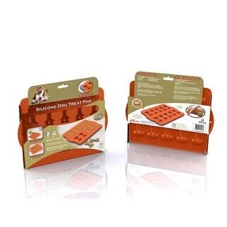 """Hugs Pet Products Silicone Baking Tray - Dog Bone Orange 12"""" x 10"""""""