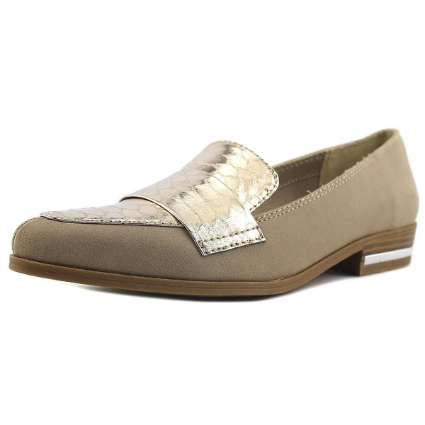 Bar III Involve Women Round Toe Leather Tan Loafer