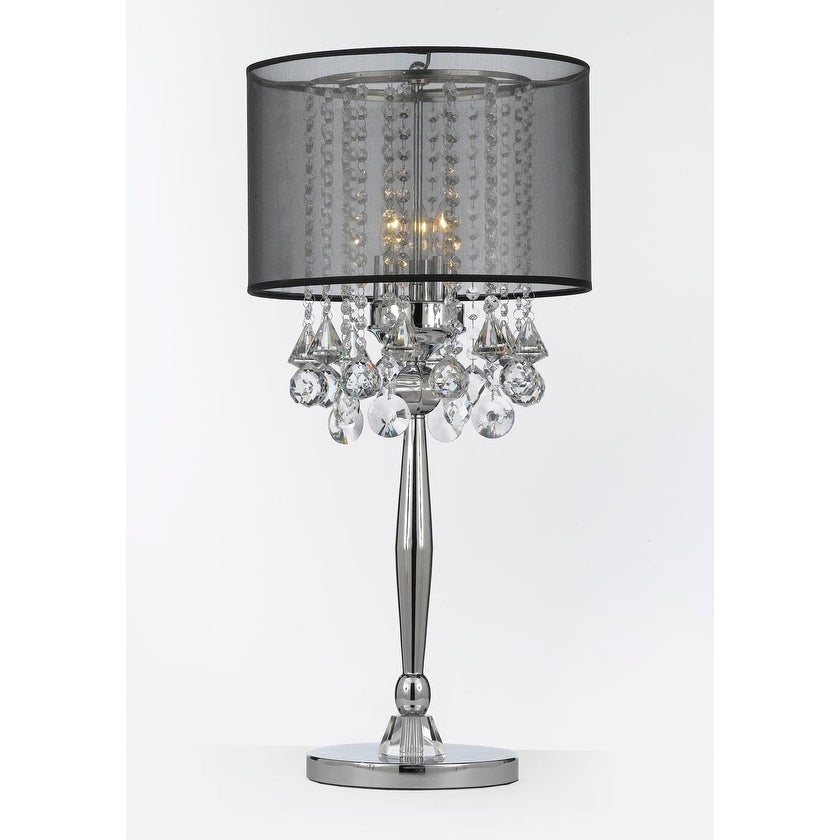Light Chrome Crystal Table Lamp