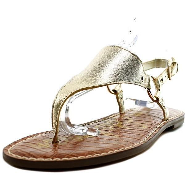 Sam Edelman Greta Women Open Toe Leather Gold Thong Sandal