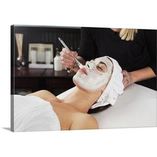 Premium Thick-Wrap Canvas entitled Woman Getting Spa Treatment.