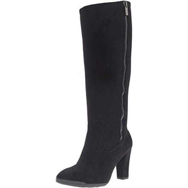 Anne Klein Womens Elek Knee-High Boots Padded Insole Dress