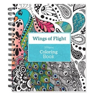 "Spiral-Bound Coloring Book 9""X8.5""-Wings Of Flight"