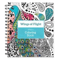 """Spiral-Bound Coloring Book 9""""X8.5""""-Wings Of Flight"""