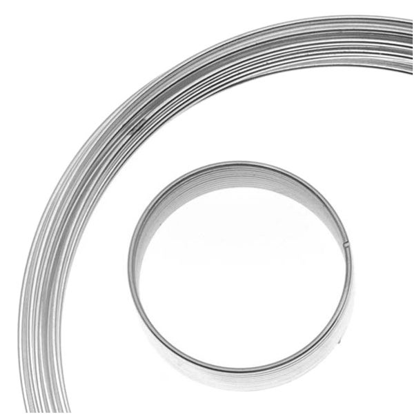 BeadSmith Assorted Memory Wire - Silver Plated - 10 Loops Per Size