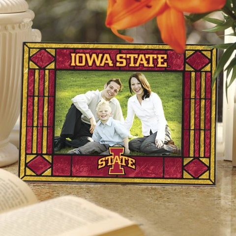 Iowa State Cyclones Art Glass Horizontal Picture Frame