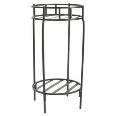 Panacea 86620 Contemporary Steel Double Plant Stand, Black, 20.5""