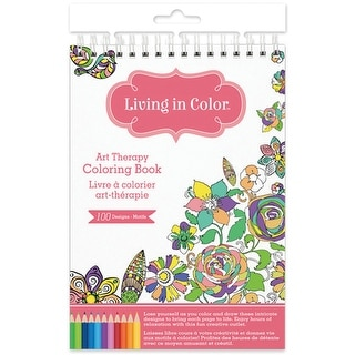 Living In Color Art Therapy Coloring Book -Gardenia