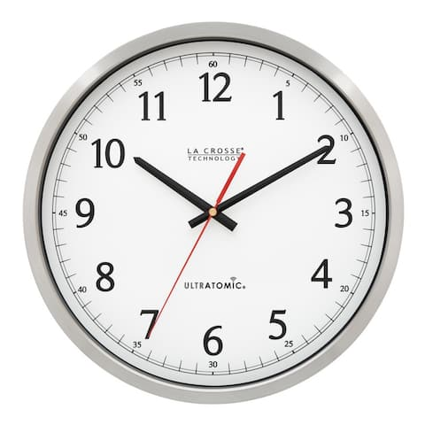 La Crosse Technology 404-1235UA-PL 14 In. UltrAtomic Metal Wall Clock