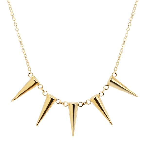 Just Gold Five-Cone Station Necklace in 14K Gold