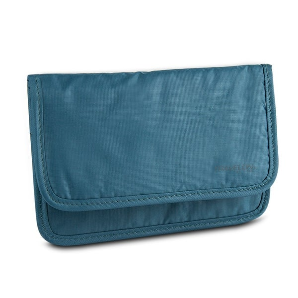 Travelon Safe ID Hack-Proof Medium Wallet with RFID Blocking, Teal
