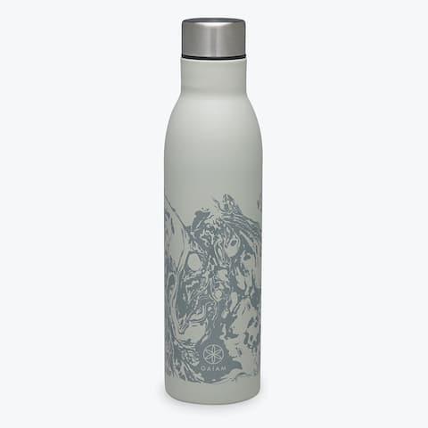 GAIAM Easy-Grip Stainless Steel Water Bottle (25OZ) - 25oz