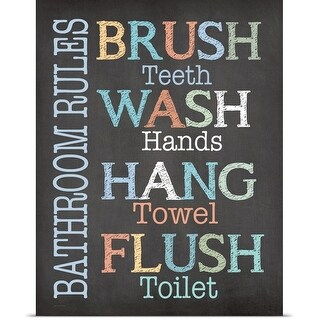 Jo Moulton Poster Print entitled Brush Wash Flush
