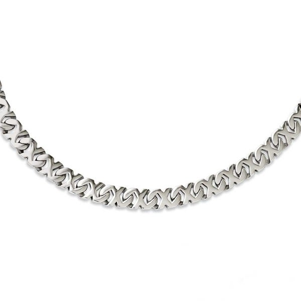 Chisel Stainless Steel Polished Fancy Xs 24in Necklace (9 mm) - 24 in