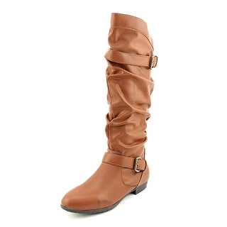 Rampage Basking Women Round Toe Synthetic Brown Knee High Boot