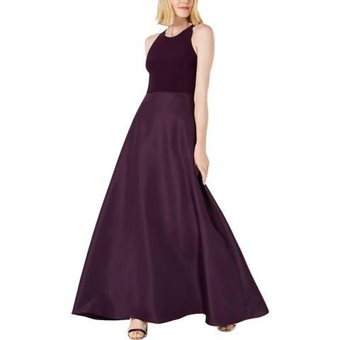 Adrianna Papell Womens Evening Dress Taffeta Sleeveless