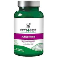 """Vet's Best Dog Aches and Pains Supplement 50 Tablets Green 2.5"""" x 2.5""""x 4.94"""""""