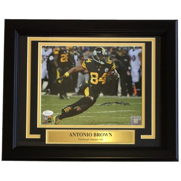 online retailer 2fcad eb344 Shop Antonio Brown Signed Framed 8x10 Pittsburgh Steelers ...