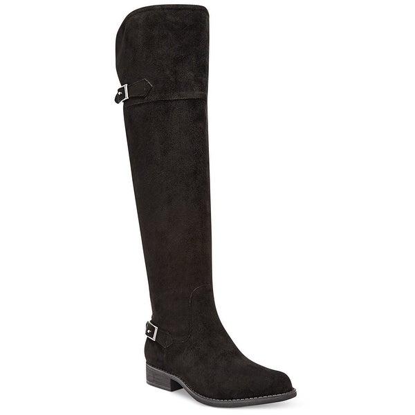 American Rag Womens Ada Closed Toe Knee High Fashion Boots, Black, Size 6.5