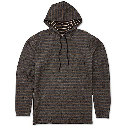 Billabong Mens Flicker Fuego Hoodie Cotton Stripe - Black