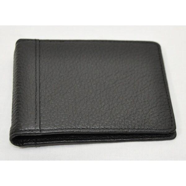 Trafalgar Mens 3116PT04 Black Pass-Case Card Case Bifold Wallet