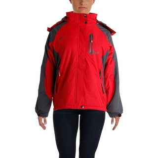 Kaisike Womens Colorblock Long Sleeves Parka - XL
