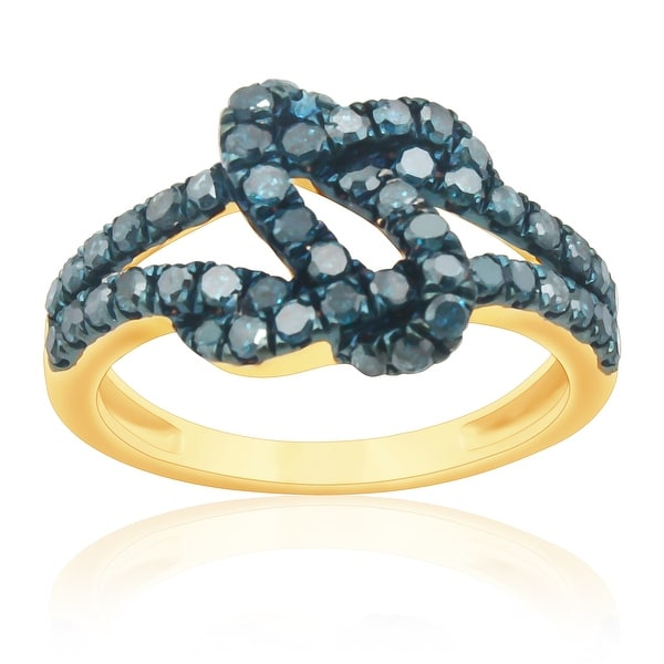 Lovely 1.01Ct Blue Color Round Diamond Promise Ring