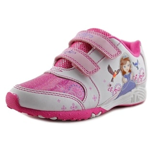 Disney Sofia the First Light Up Youth Round Toe Synthetic White Sneakers