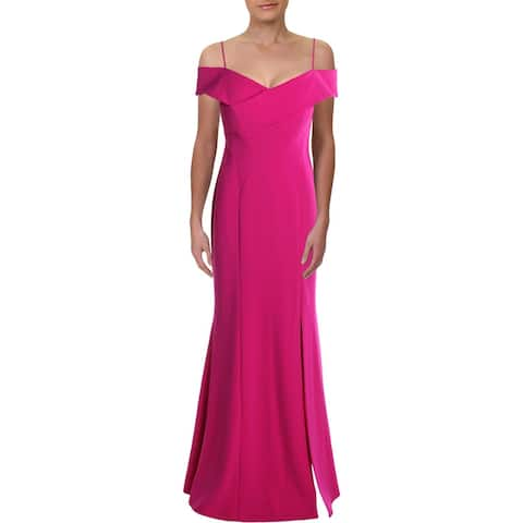 NW Nightway Womens Formal Dress Off-The-Shoulder Ruffled