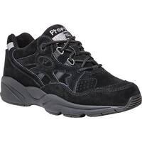 Propet Women's Stability Walker Shoe Black Suede